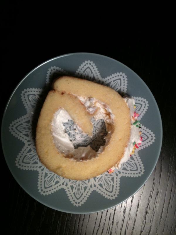 ロールケーキの食べ方