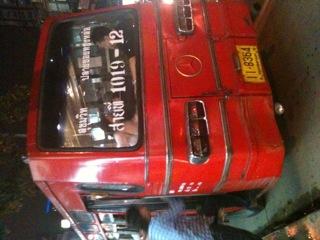 タイのバスに乗りました。